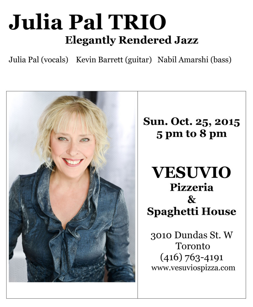 Vesuvio's Gig - Sunday Oct. 25, 2015
