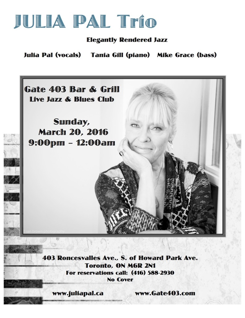 Julia Pal Trio March 20, 2016