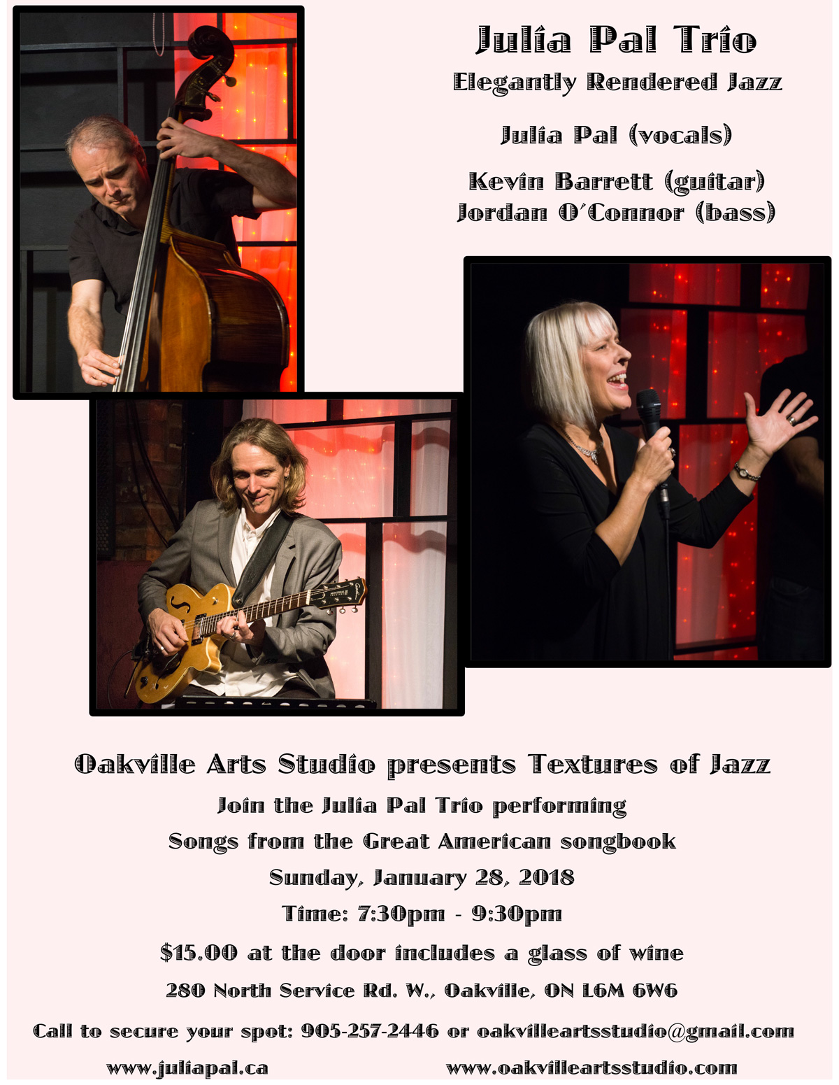 Julia Pal Trio - January 28, 2018