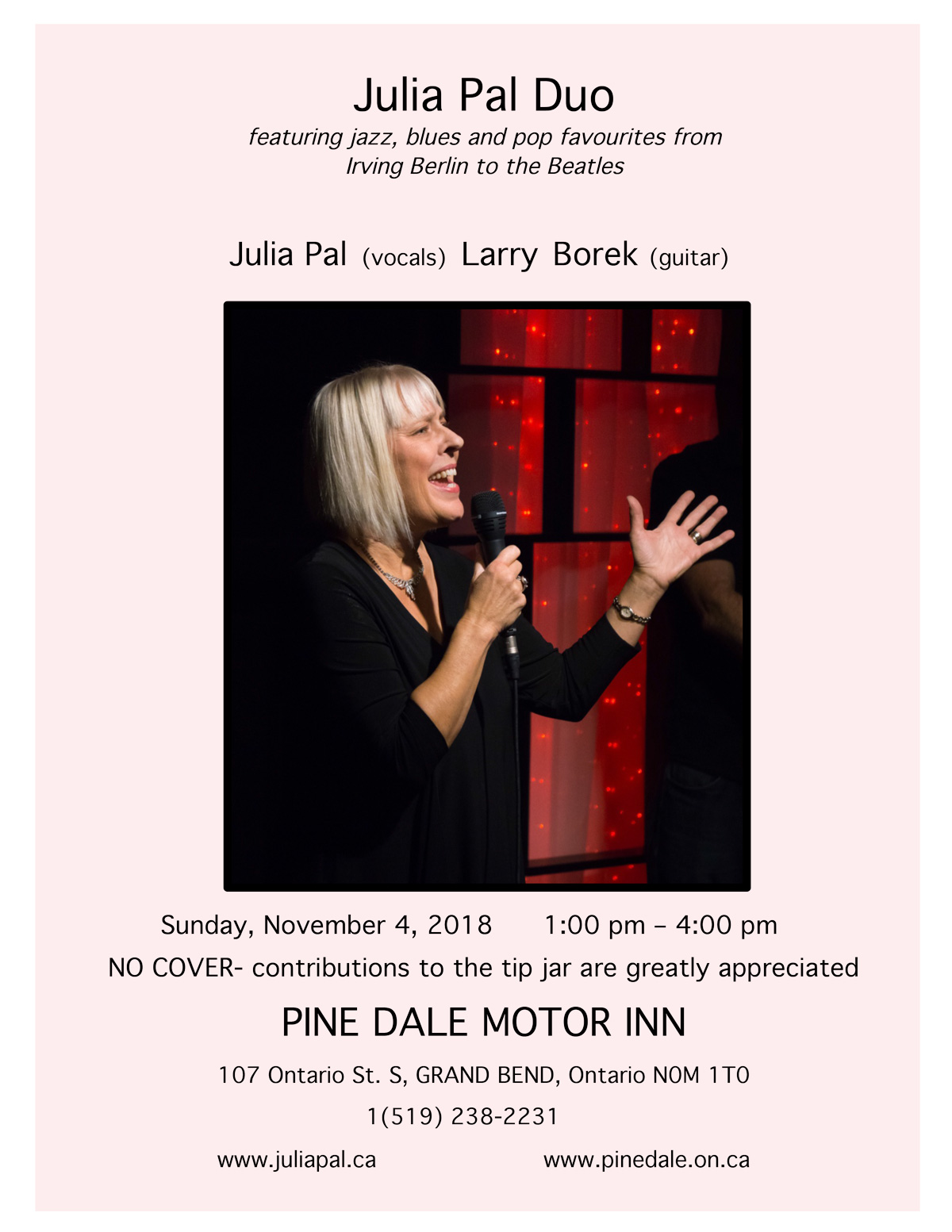 Julia Pal Duo at Pinedale Motor Inn, November 4, 2018
