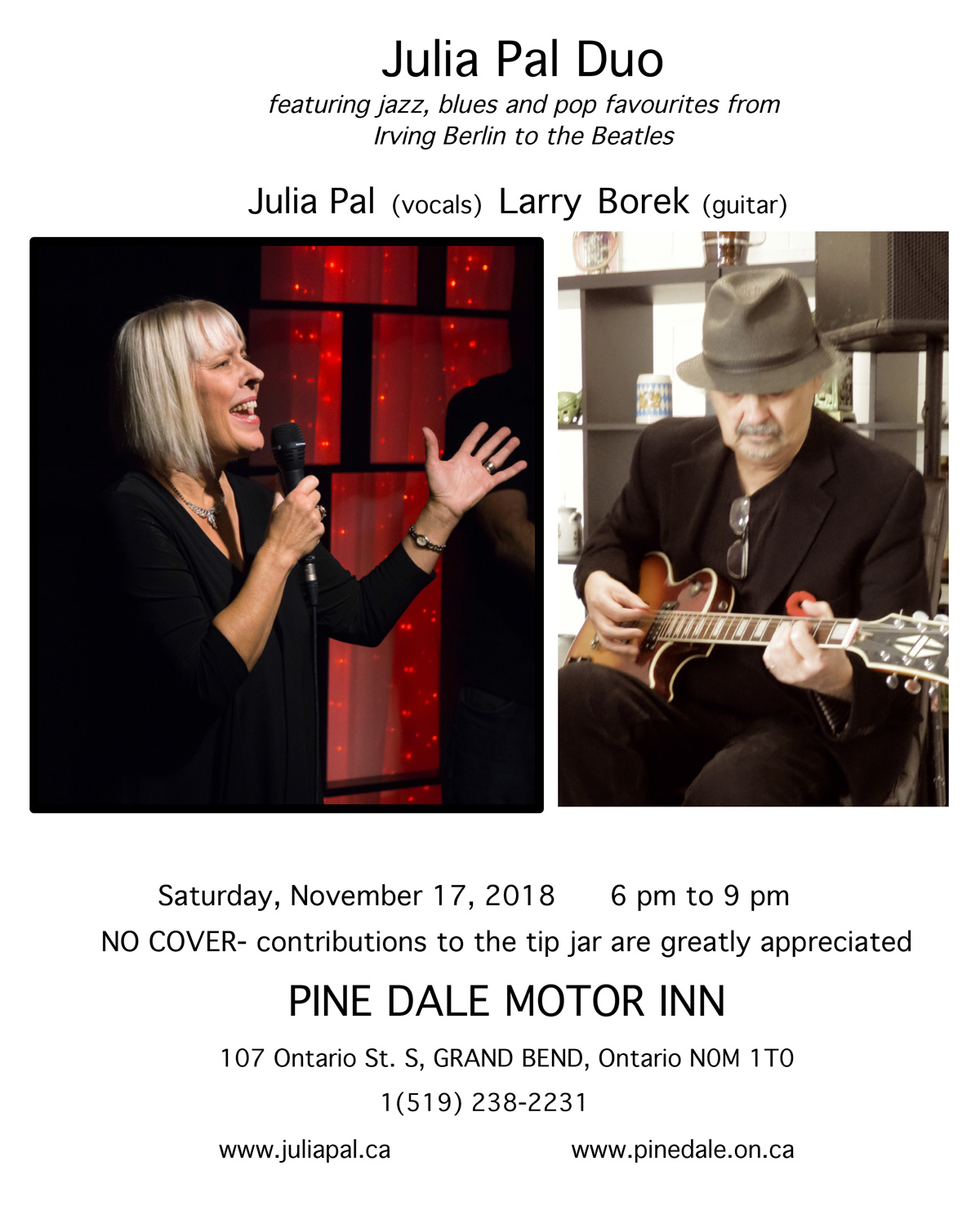 Julia Pal Duo - Nov. 17, 2018 - Pine Dale Motor Inn