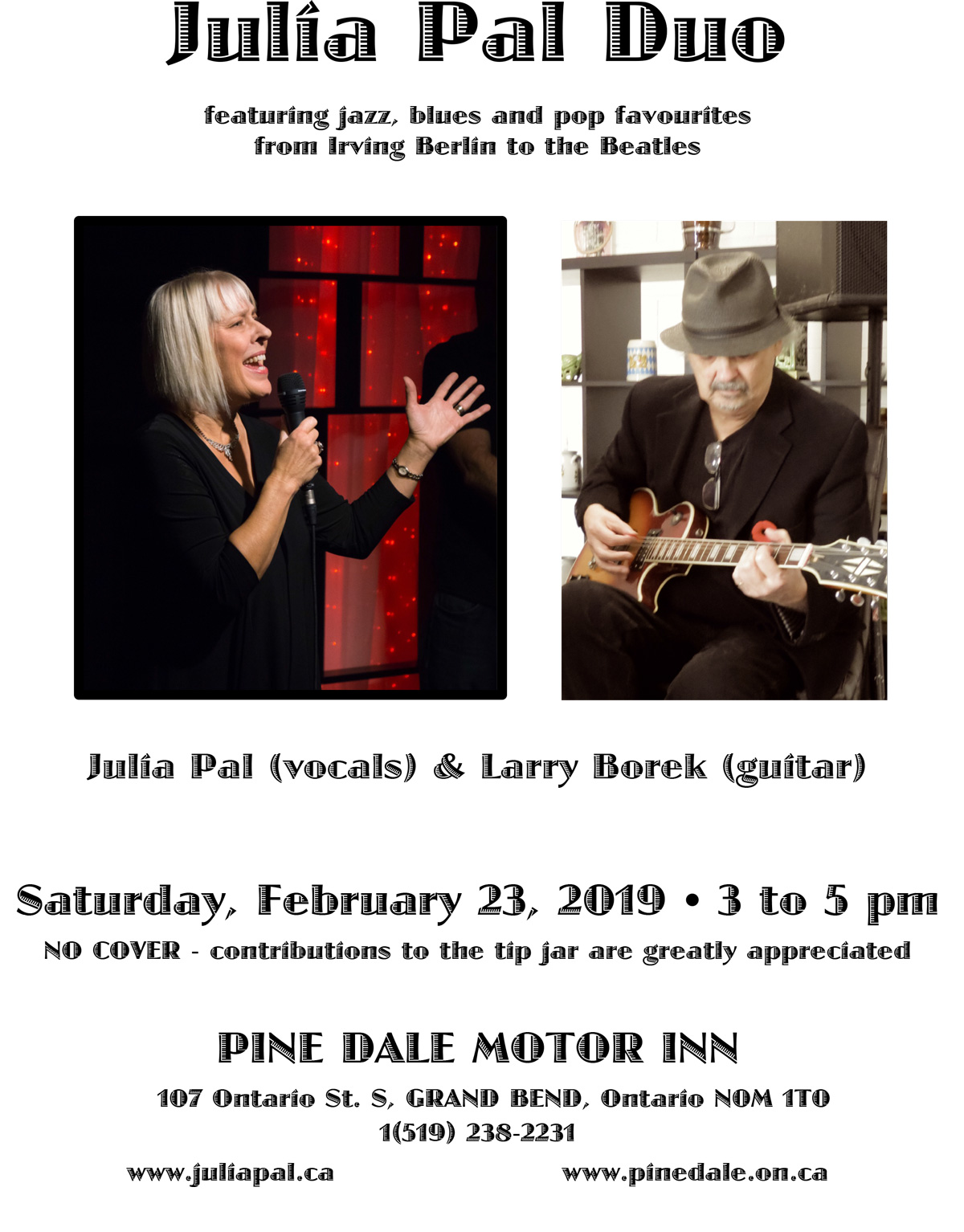 Julia Pal Duo - Feb. 23, 2019 Pinedale Motor Inn