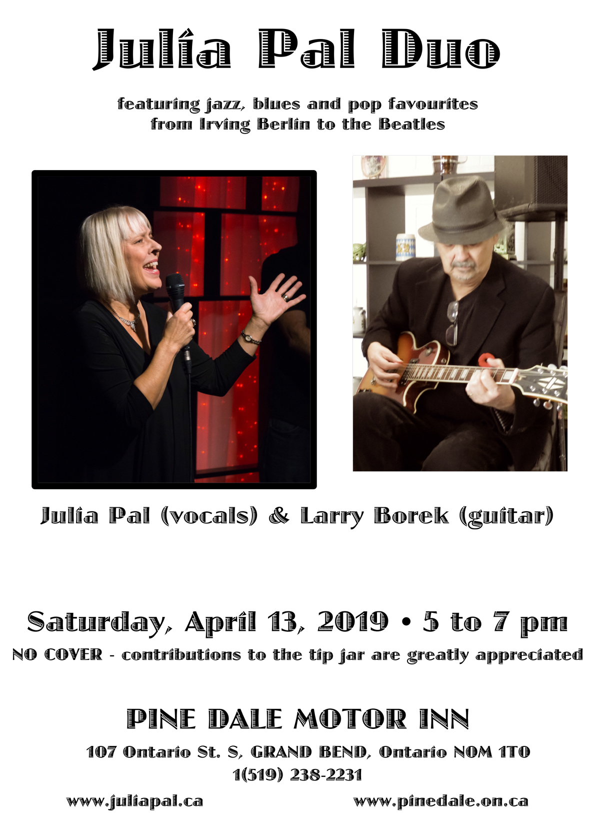 Julia Pal Duo - April 13, 2019, Pinedale Motor Inn