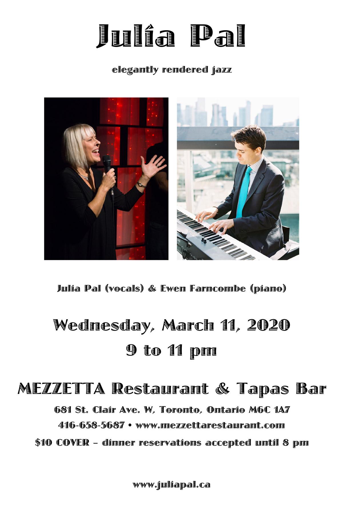 March 11, 2020 - Julia Pal @ Mezzetta